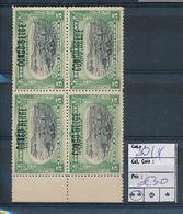 BELGIAN CONGO 1909 ISSUE COB 30L4 SIGNED CHAMPION MNH - Belgisch-Kongo