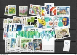 1992  MNH Finland, Year Complete According To Michel, Postfris** - Finlandia