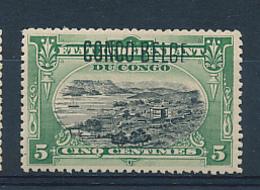 BELGIAN CONGO 1909 ISSUE COB 40 TYPO. MNH - Belgisch-Kongo