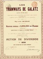 Roumanie: Les TRAMWAYS De GALATZ; Action De Dividende - Shareholdings