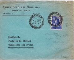 Trieste A, Sassone 608 Su Lettera Usato Nel Territorio AMG-FTT - 7. Trieste