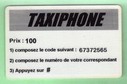 TELECARTE PREPAYEE *** TAXIPHONE 100 *** Le Scanne Represente La Carte En Vente ***Pas Courante, Verso Blanc *** (A6-12) - France