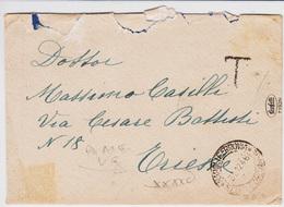 Trieste A, Lettera Non Affrancata E Tassata , Fine 1946 - 7. Trieste