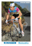 CARTE CYCLISME STEFANO BREME TEAM BENOTTO 1989 - Cyclisme