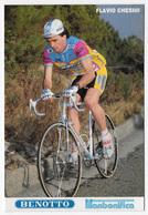 CARTE CYCLISME FLAVIO CHESINI TEAM BENOTTO 1989 - Cyclisme