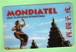 TELECARTE PREPAYEE *** MONDIATEL 100F *** Le Scanne Represente La Carte En Vente ***Pas Courante *** (A6-13) - France