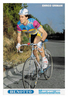 CARTE CYCLISME ENRICO GRIMANI TEAM BENOTTO 1989 - Ciclismo
