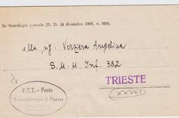 Trieste A, Lettera In Franchigia (21.05.1950) (05261) - 7. Trieste