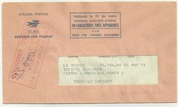 Courrier D'essai Ne Pas Acheminer Mais Retourner Au CTA Orléans 1973 - Marcophilie (Lettres)