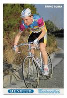 CARTE CYCLISME BRUNO SURRA TEAM BENOTTO 1989 - Cyclisme