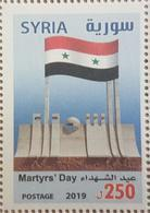 Syria 2019 NEW MNH Stamp - Martyrs Day, Flag - Syria