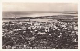 Honolulu Hawaii, Panoramic View Of City From Punchbowl Crater Diamond Head, C1940s/50s Vintage Real Photo Postcard - Honolulu