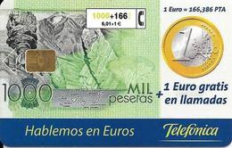 CARTE-PUCE-ESPAGNE-6,01€/1000Pts-11/99-92000Ex-TBE-RARE - Spanje