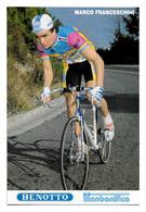 CARTE CYCLISME MARCO FRANCESCHINI TEAM BENOTTO 1989 - Cyclisme