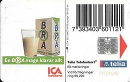 CARTE-PUCE-SUEDE-SC7-94/06-ICA HANDLAMA-LAIT-V°N°C47146082-Utilisé-TBE - Suède