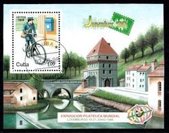 Kuba 1998 Mi.nr: Block 151 Briefmarkenausstellung JUVALUX '96  Oblitérés / Used / Gestempeld - Organizaciones