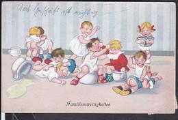 Familienstreitigkeiten , Kinder , Nachttopf  1925 - Humorvolle Karten