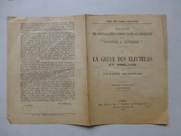 La Grève Des électeurs, O. Mirbeau, 1902, Brochure Communiste-anarchiste (4 Pages) ; PAP06 - Historische Dokumente