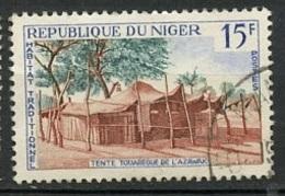 Niger 1964-65 Y&T N°150 - Michel N°84 (o) - 15f Tente Targui - Niger (1960-...)