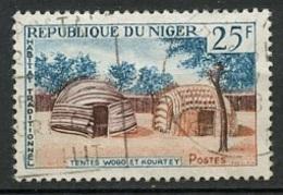 Niger 1964-65 Y&T N°152 - Michel N°86 (o) - 25f Tente Wogo - Niger (1960-...)