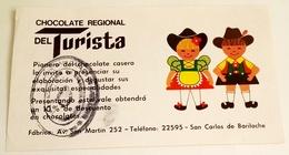 Ancienne Publicité Au Chocolat Régionale TURISTA - San Carlos De Bariloche - Publicidad