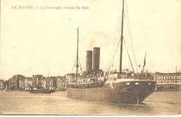 """Le Havre - """"La Gascogne"""" Sortant Du Port - Le Havre"""