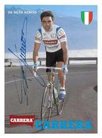 CARTE CYCLISME ACACCIO DA SILVA SIGNEE TEAM CARRERA 1989 - Cyclisme