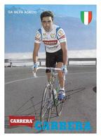 CARTE CYCLISME ACACIO DA SILVA SIGNEE TEAM CARRERA 1989 - Cyclisme