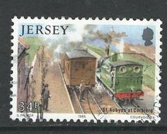 Jersey, Mi 359 Jaar 1985, Treinen, Hoogste Waarde, Gestempeld - Jersey