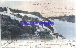 118137 PARAGUAY SALTO IGUAZU VISTA PRACIAL YEAR 1906 CIRCULATED TO ARGENTINA POSTAL POSTCARD - Paraguay