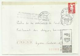 Lettre Roubaix PPAL Marque Fausse Direction 1993 - Marcophilie (Lettres)