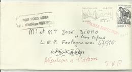 Lettre La Mede Marque Fausse Direction 1987 - Marcophilie (Lettres)