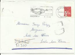 Lettre Mazamet Fausse Direction 2002 - Marcophilie (Lettres)