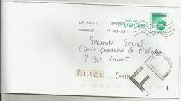 Lettre Fausse Direction 2013 - Marcophilie (Lettres)