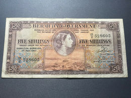 Bermuda 5 Shillings 1957. VF. - Bermudas