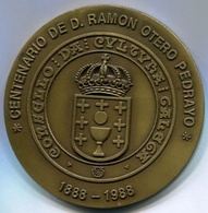 CENTENARIO DE D. RAMON OTERO PEDRAYO - CONSELLO DA CULTURA GALEGA. YEAR 1988 MEDAL MEDALLA.  -LILHU - Autres