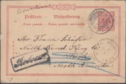 DR. P 25/01, Gestempelt: Königsbach 15.1.1894, Retour - Stamped Stationery