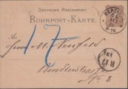 DR RP 4 A, Gestempelt: Berlin 8/1 1886 - Deutschland