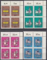 BERLIN  348-351, 4erBlock Eckrand Rechts Oben, Postfrisch **, Wohlfahrt, Zinnfiguren 1969 - Unused Stamps