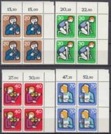 BERLIN  468-471, 4erBlock Eckrand Rechts Oben, Postfrisch **, Jugend: Jugendarbeit 1974 - Nuovi