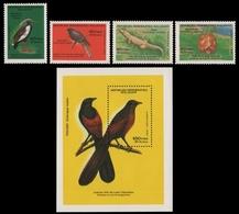 Madagaskar 1987 - Mi-Nr. 1045-1048 & Block 37 ** - MNH - Vögel / Birds - Madagaskar (1960-...)