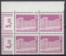 BERLIN  Mi.Nr. 141 X W, 4erBlock Eckrand Rechts Oben, Postfrisch **, Berliner Stadtbilder 1956 - Unused Stamps