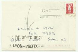 Lettre Lyon PAS DE BOITE POSTALE 1996 - Marcofilie (Brieven)