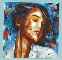 CPM Beau Portrait De Femme Réalisée Par Nathalie Lemaître Exposition La Rhumerie Café Bar Bd ST Germain - Peintures & Tableaux