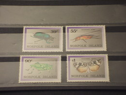 NORFOLK - 1989 INSETTI 4 VALORI - NUOVI(++) - Isola Norfolk