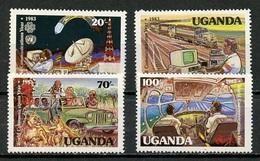 Ouganda - Uganda 1983 Y&T N°326 à 329 - Michel N°378 à 381 *** - Année Des Communications - Ouganda (1962-...)