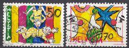 HELVETIA - SUISSE - SVIZZERA - 1992 - Lotto Di 2 Valori Usati: Yvert 1406/1407. - Usati