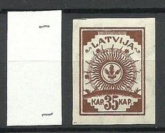 LETTLAND Latvia 1919 Michel 21 * - Lettland