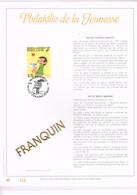 BELGIQUE FEUILLET OR 23 CARATS : Gaston Lagaffe. 1992 - Bandes Dessinées