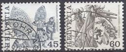 HELVETIA - SUISSE - SVIZZERA - 1984 - Lotto Di 2 Valori Usati: Yvert 1210/1211. - Svizzera